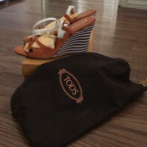 Tod's Shoes - Tod's Italian wedged shoes with ankle wrap